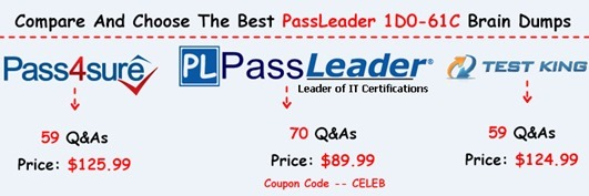 PassLeader 1D0-61C Brain Dumps[17]