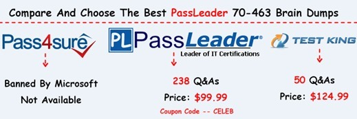 PassLeader 70-463 Brain Dumps[51]