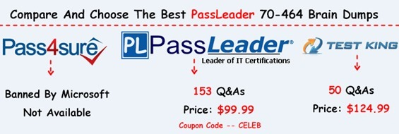 PassLeader 70-464 Brain Dumps[23]