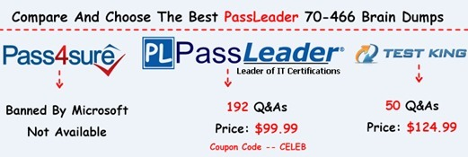 PassLeader 70-466 Brain Dumps[29]